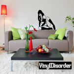 Leaning Woman in Bikini and Thigh Highs Decal