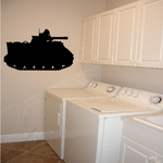 Gattling Cannon Tank Decal
