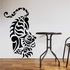 Chinese Tiger Climbing Down Decal