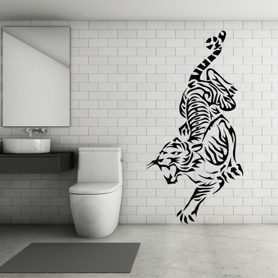 Lurking Hiss Tiger Decal