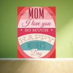 Fancy Mom I Love You So Much Happy Mothers Day Typography Sticker