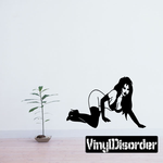 Bottomless Woman in Heels Crawling Decal