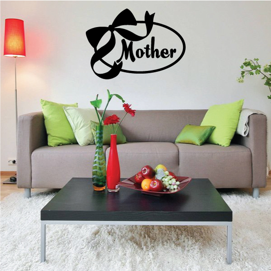 Mothers Day Ribbon Oval Decal