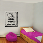 Sisters Are For Sharing Laughter And Wiping Tears Wall Decal