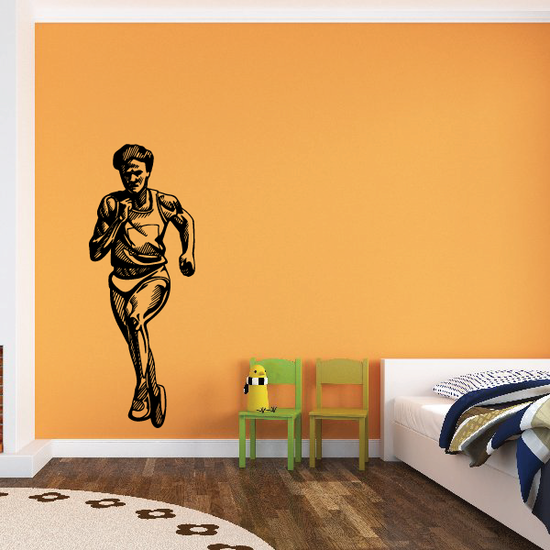 Track And Field Wall Decal - Vinyl Decal - Car Decal - CDS039