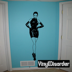 Woman in Latex Dress and Gloves Decal