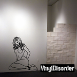 Bound and Gagged Damsel Decal