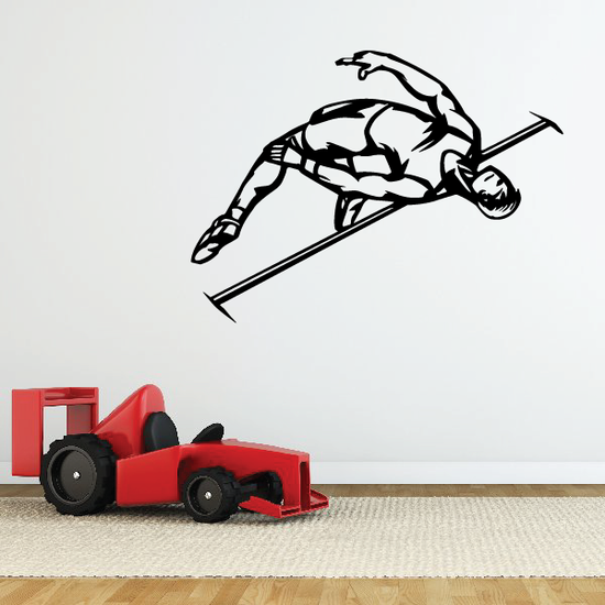 Track And Field Wall Decal - Vinyl Decal - Car Decal - CDS055