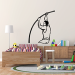 Track And Field Pole Vault Wall Decal - Vinyl Decal - Car Decal - CDS060