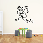 Track And Field Wall Decal - Vinyl Decal - Car Decal - CDS062