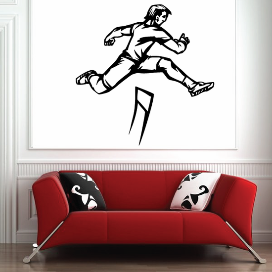 Track And Field Wall Decal - Vinyl Decal - Car Decal - CDS068