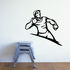 Track And Field Wall Decal - Vinyl Decal - Car Decal - CDS069