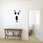 Surprised Face Toilet Decal