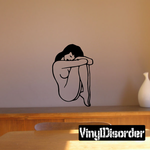 Curled Up Nude Woman Decal
