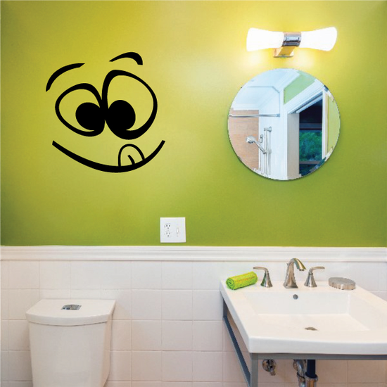 Smiley Face Toilet Decal