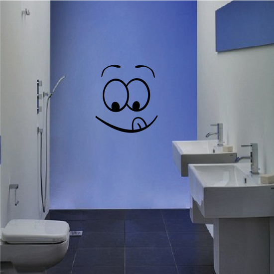 Happy Face Toilet Decal