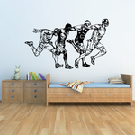Track And Field Wall Decal - Vinyl Decal - Car Decal - CDS084