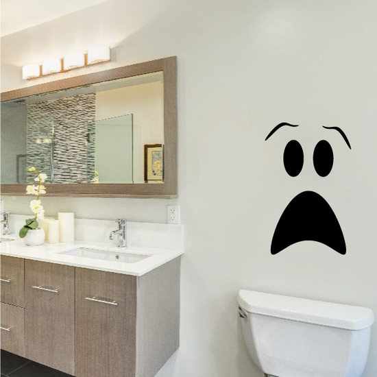 Scared Face Toilet Decal