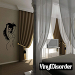 Topless Woman Toying with Hair Decal