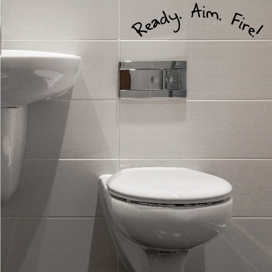 Ready Aim Fire Toilet Decal