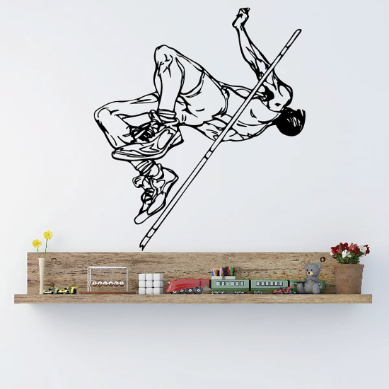 Track And Field Wall Decal - Vinyl Decal - Car Decal - CDS093