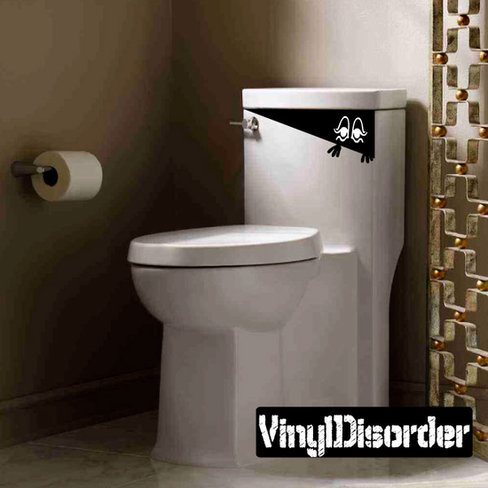 Girly Toilet Monster Decal