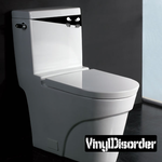 Angry Toilet Monster Decal