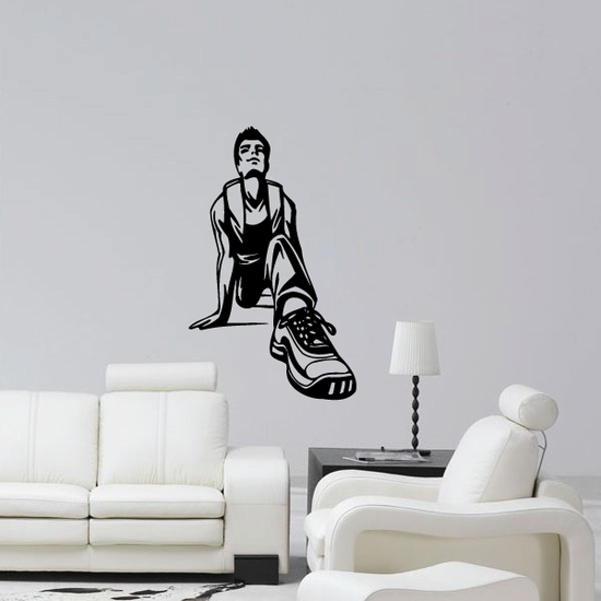 Track And Field Wall Decal - Vinyl Decal - Car Decal - CDS097
