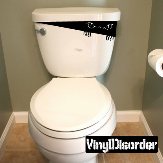Eerie Toilet Monster Decal