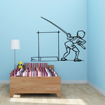 Track and field Wall Decal - Vinyl Decal - Car Decal - Bl004