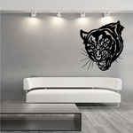 Snarling Panther Face Decal