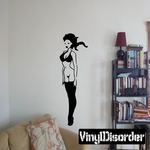 Bottomless Woman in Nylons Decal