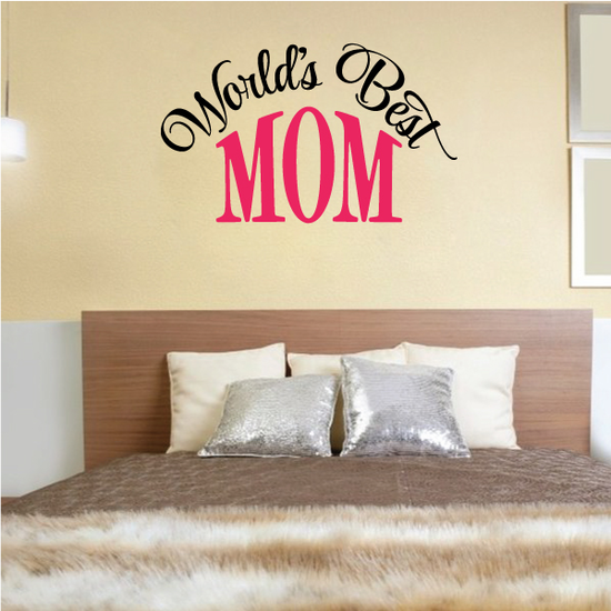 Worlds Best Mom Decal