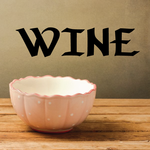 Wine Lettering Decal