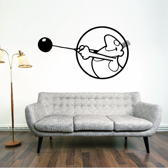 Track and field Wall Decal - Vinyl Decal - Car Decal - Bl034
