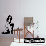 Woman in Thigh High Heels Decal