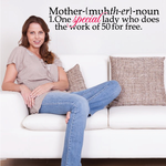 Mother Noun One Special Lady Who Does Work Of 50 For Free Mom Quote Decal
