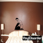 Short Hair Topless Woman in Nylons and Gloves Decal