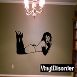 Resting Topless Woman Decal