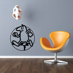Track and field Wall Decal - Vinyl Decal - Car Decal - Bl042