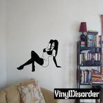 Posing Bottomless Woman in Lingerie Decal