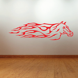 Flaming Horse Decal