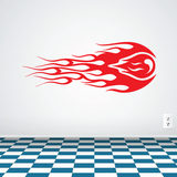 Flaming Ball Decal