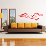Flaming Seagull Decal