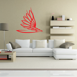 Flaming Wing Decal