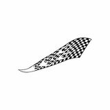 Checkered Flame Decals
