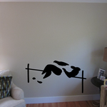 Track and field Wall Decal - Vinyl Decal - Car Decal - Bl049