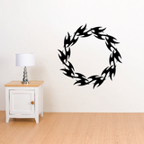 Circle Flame Decals