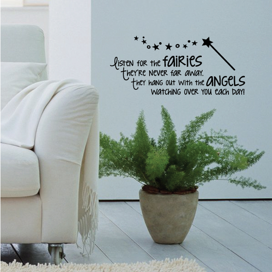 Listen for the Fairies They are never too far away Wall Decal