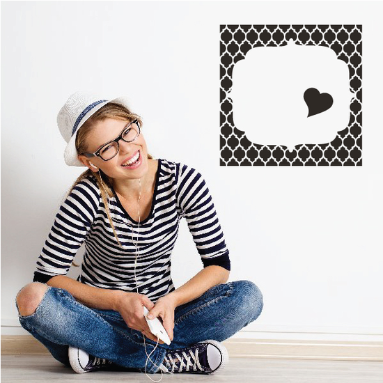Heart Frame Wall Decal
